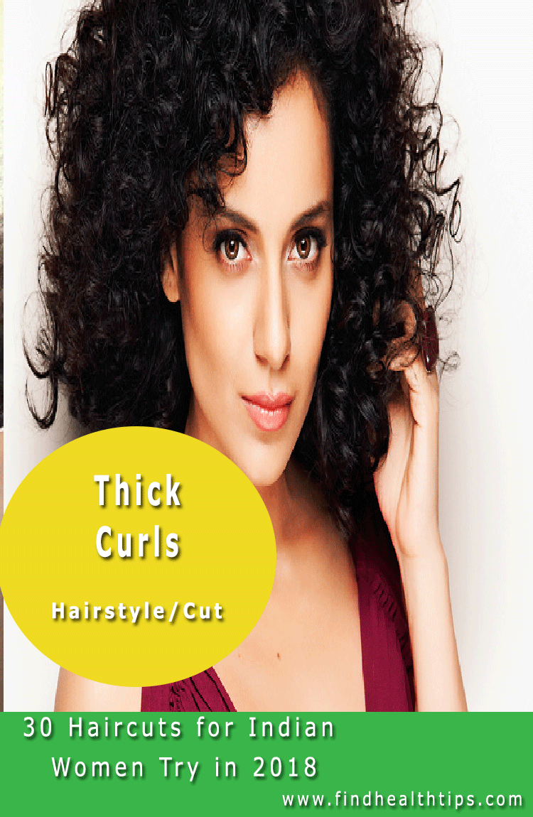 Thick Curls Haircuts For Indian Women 2018