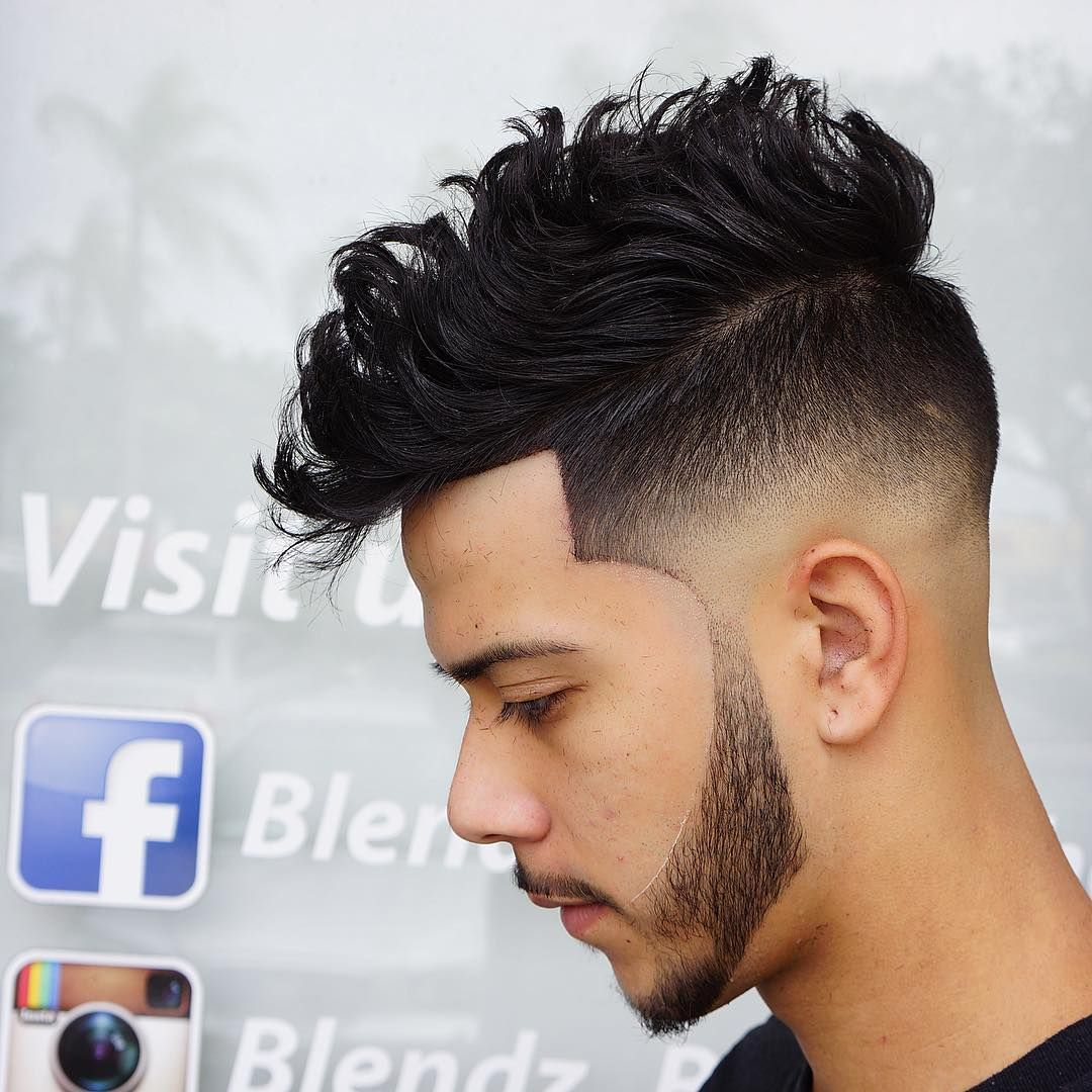 Thick curly High Fade Short Hairstyle for Men