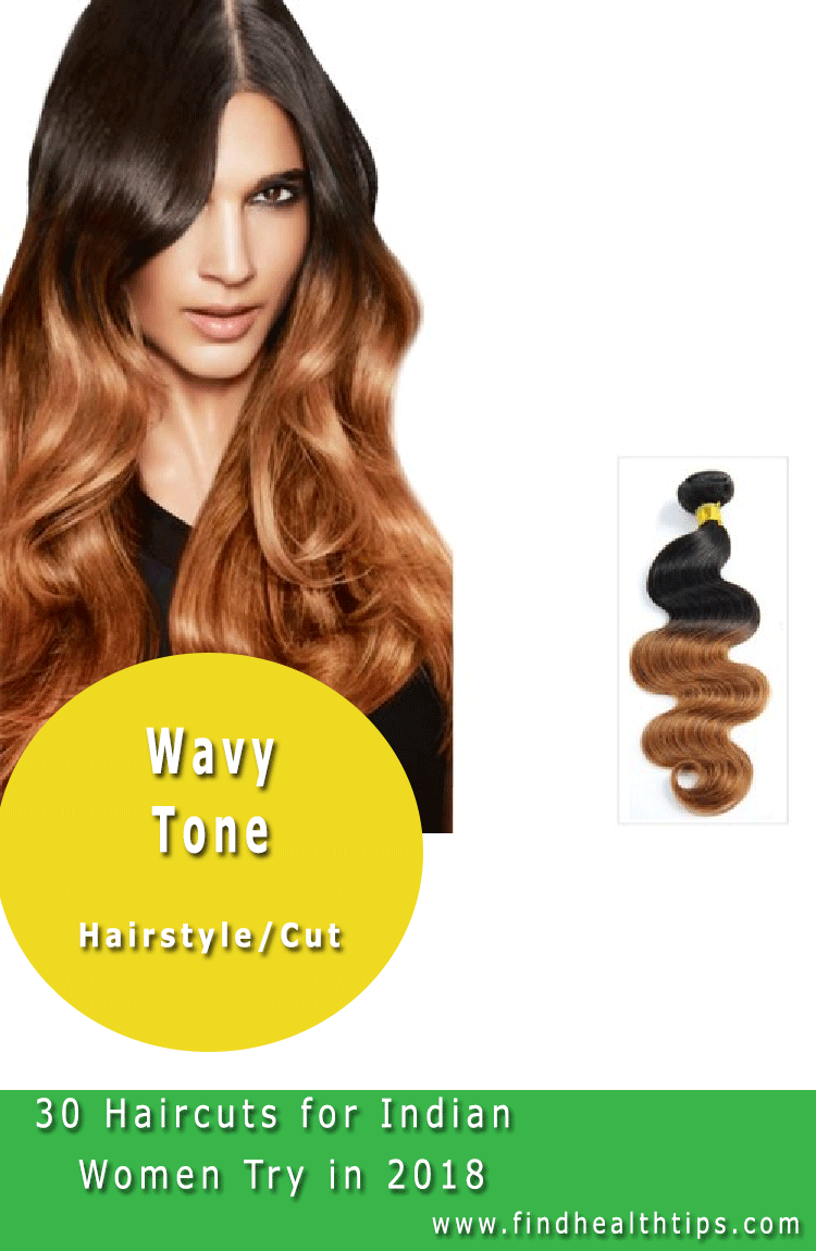 Wavy Tone Haircuts For Indian Women 2018