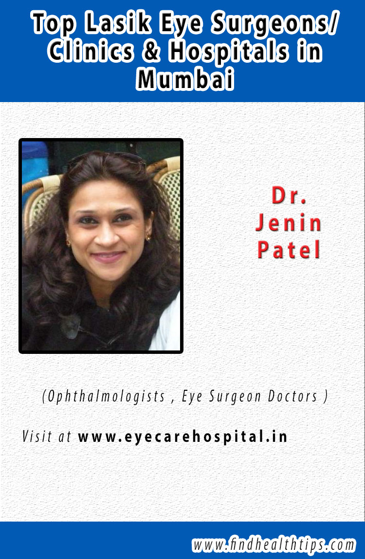 Dr. Jenin Patel top lasik eye surgeon in Mumbai