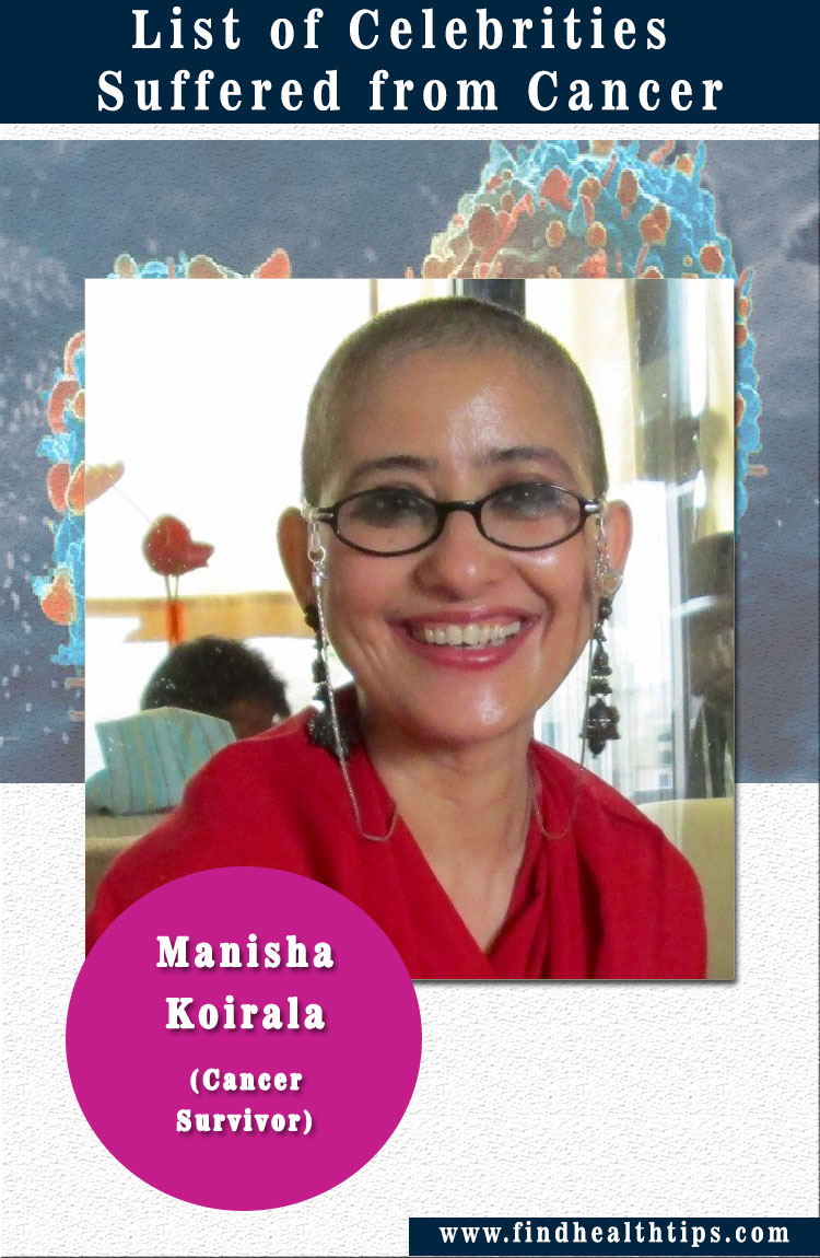 manisha koirala celebrities suffered from cancer