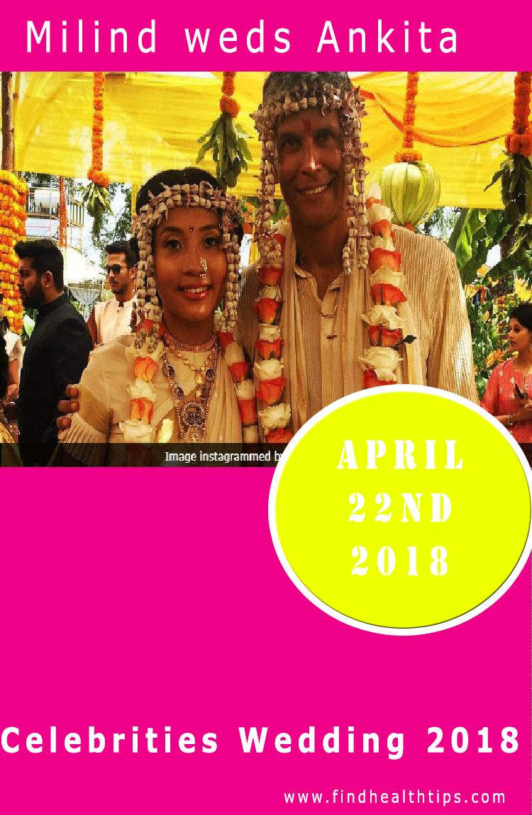 milind weds ankita celebrity wedding 2018