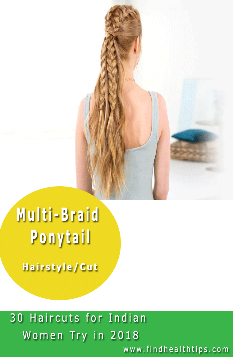 multi braided Haircuts For Indian Women 2018