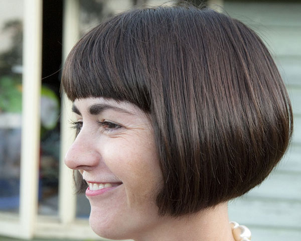 rounded bob round face hairstyle women 2018