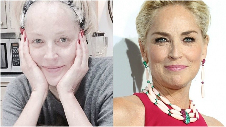 sharon stone without makeup photos