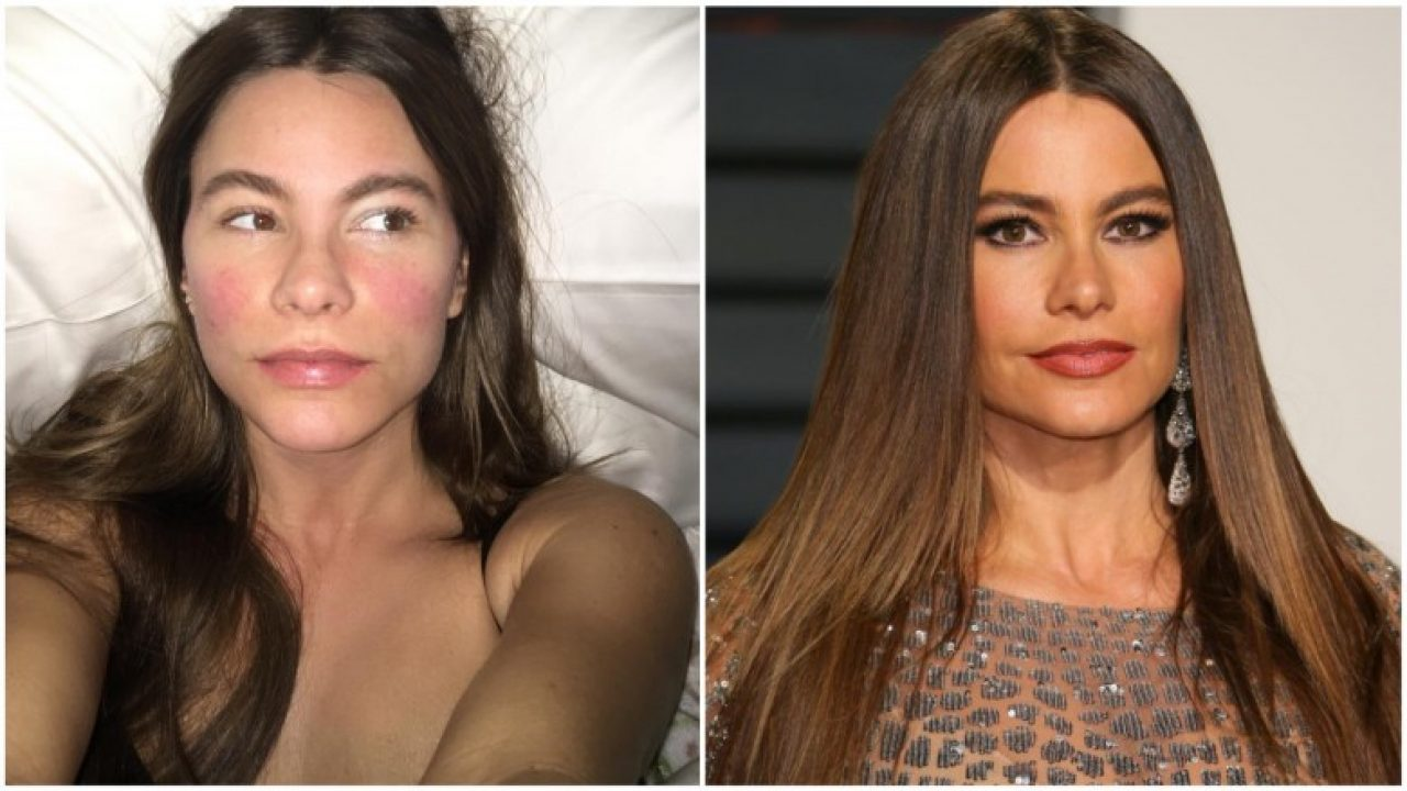 hollywood celebrities without makeup before and after