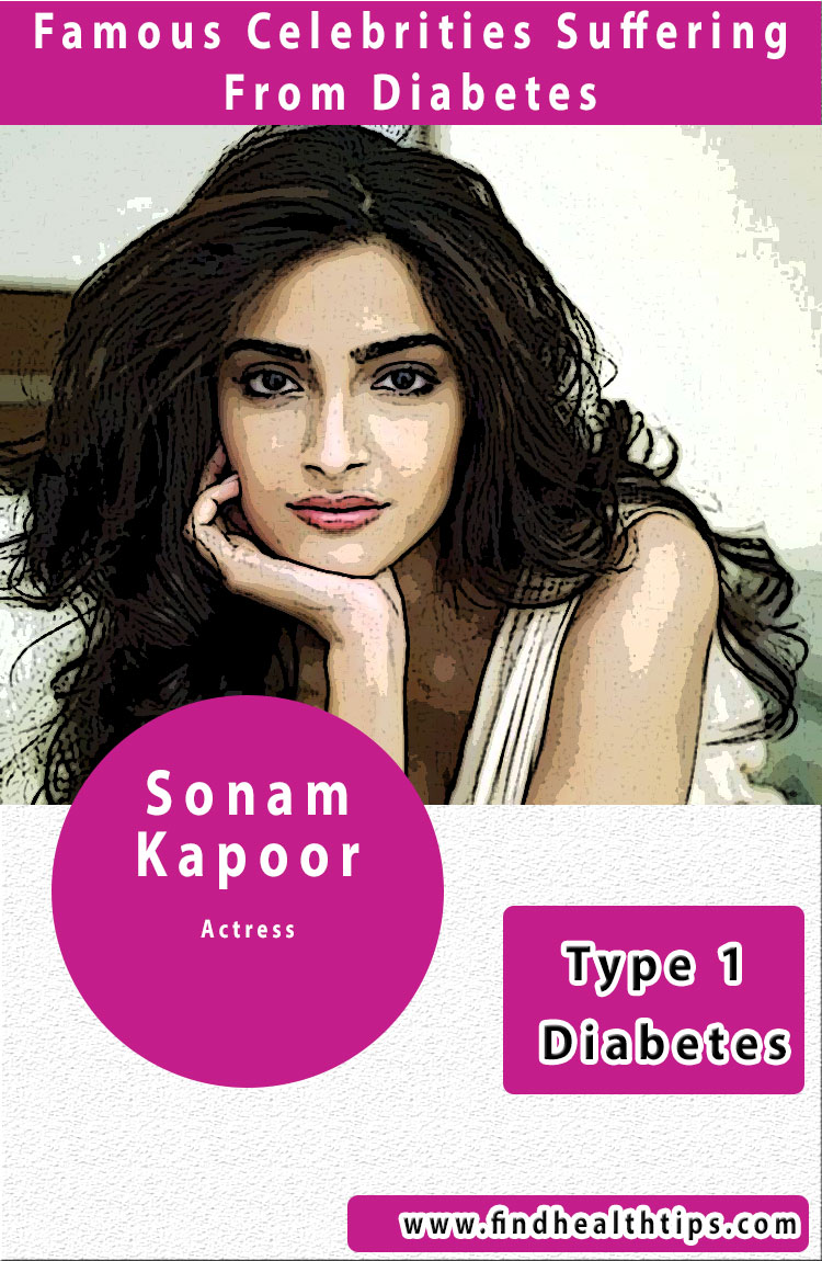 sonam kapoor famous diabetic celebrities india