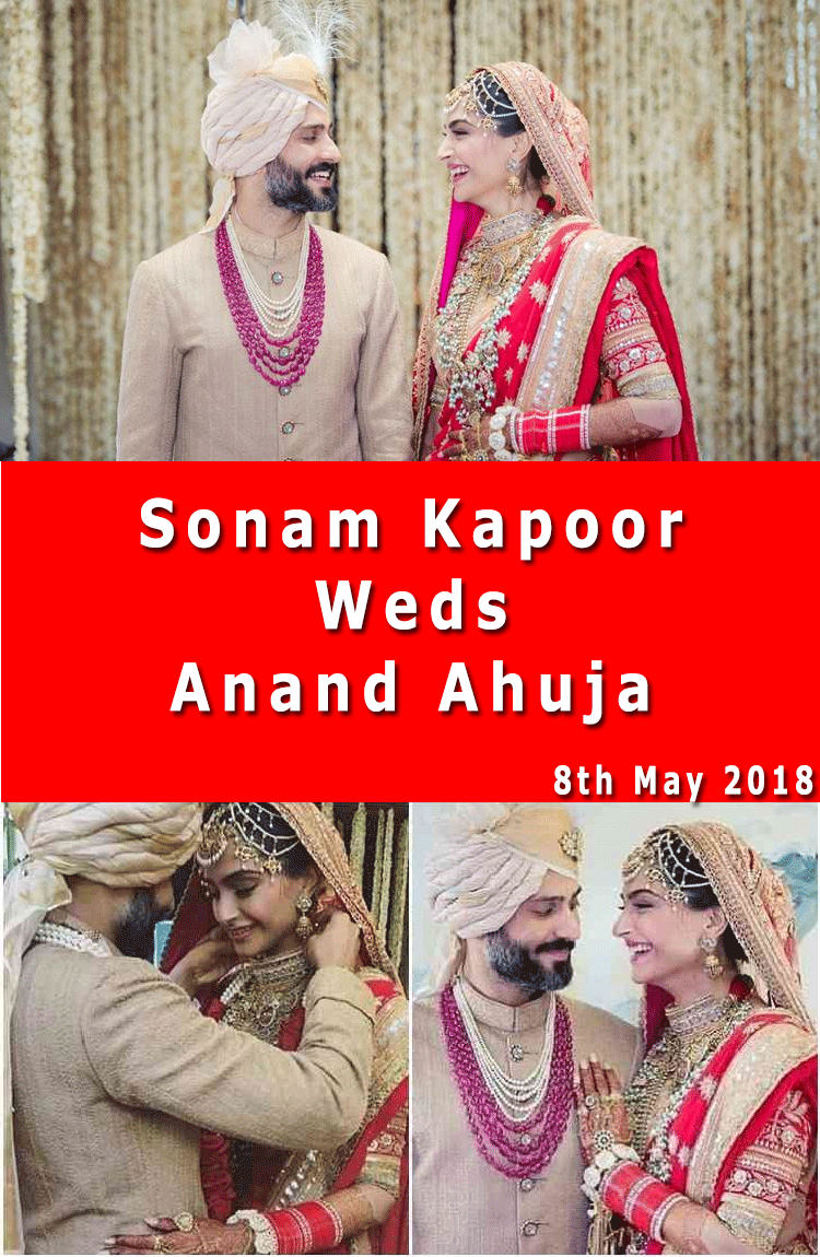 sonam kapoor wedding 8 may 2018