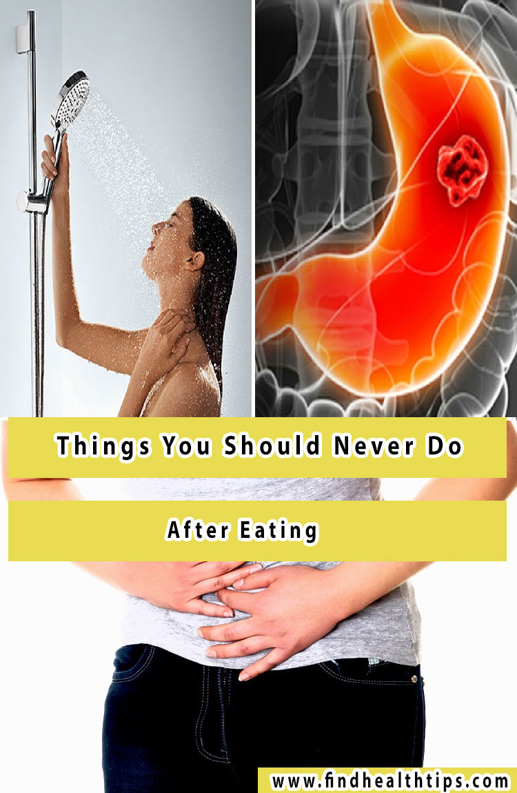 things you should never do after eating