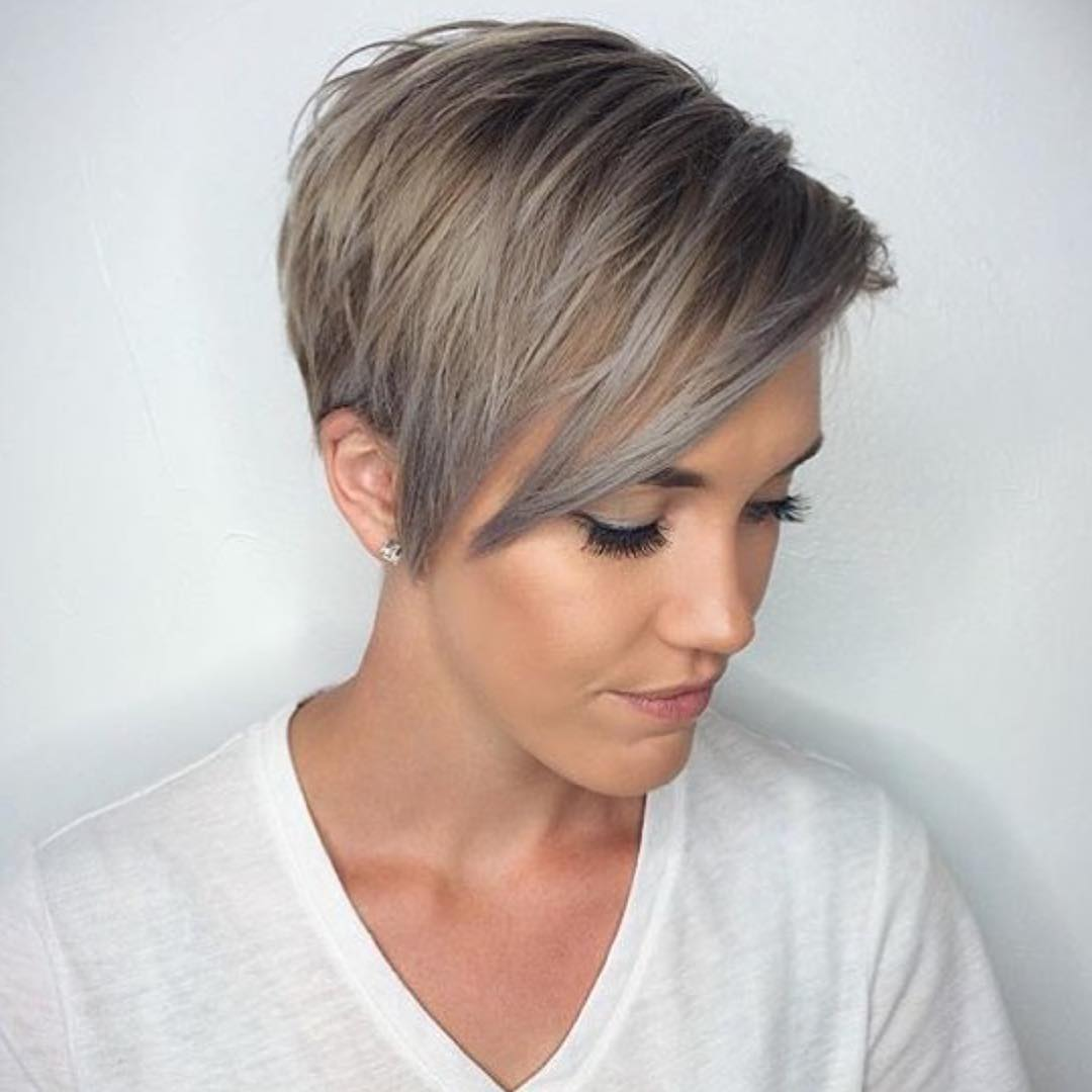 trendy grey pixie Teenage Girls
