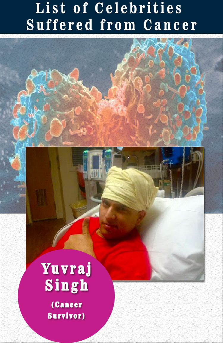 yuvraj singh celebrities suffered from cancer