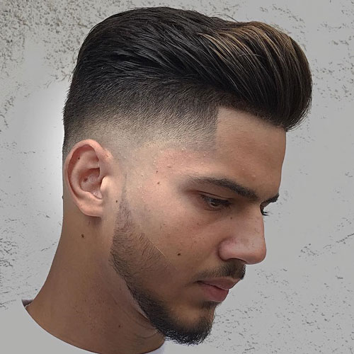 Pompadour Fade Hair Cut for Boys 2018