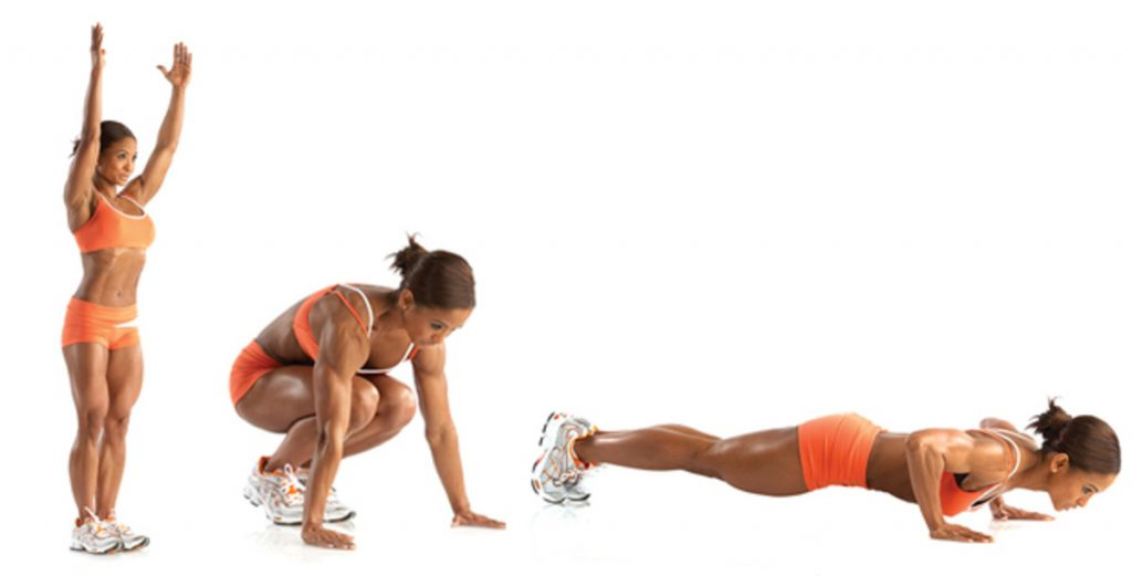 Burpees best exercise to burn fat and lose weight