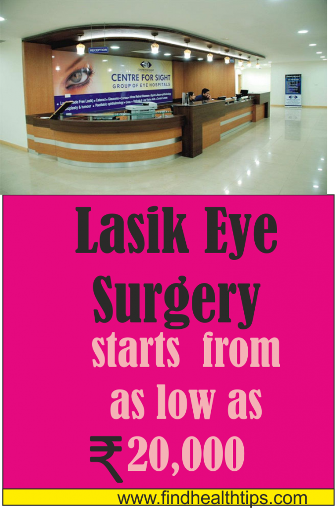 lasik eye surgery cost Center For Sight Clinic Delhi