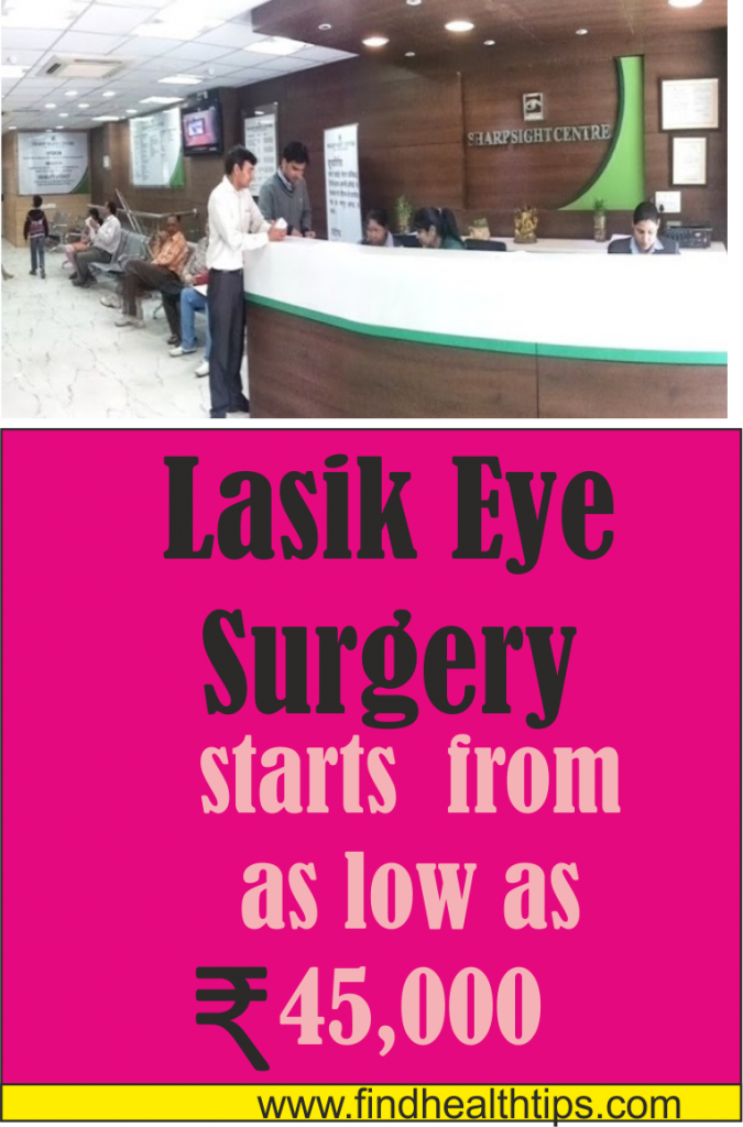 lasik eye surgery cost Sharp Sight Private Clinic Delhi