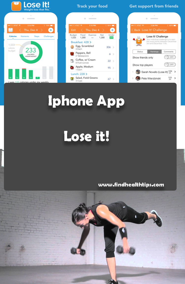 Lose It Best Health Fitness iPhone apps 2018