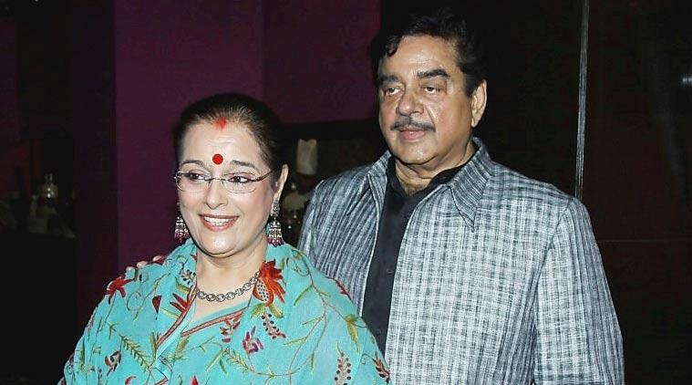 Shatrugan Sinha and Poonam Sinha beautiful wife of Indian politician