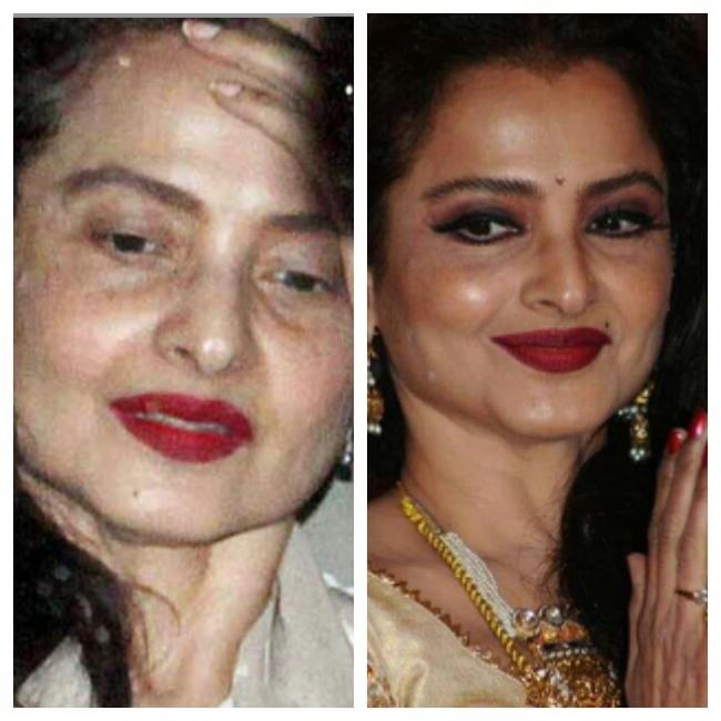 Rekha without makeup photos