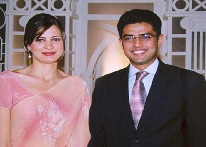 Sachin Pilot and Sara Pilot beautiful wife of Indian politician