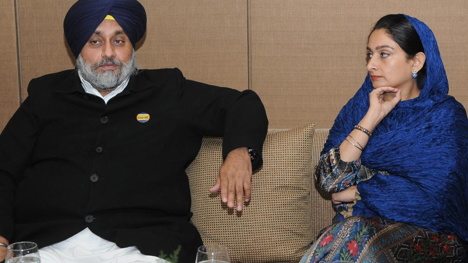 Sukhbir and Hasrimat beautiful wife of Indian politician