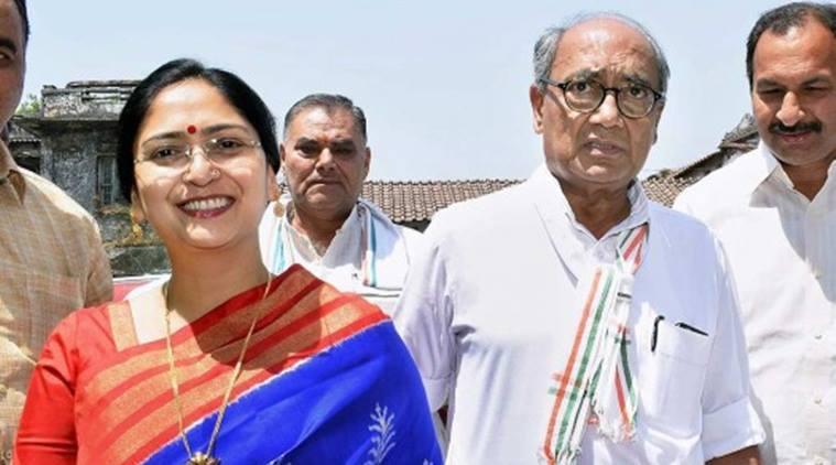 Dig Vijay Singh and Amrita Rai beautiful wife of Indian politician