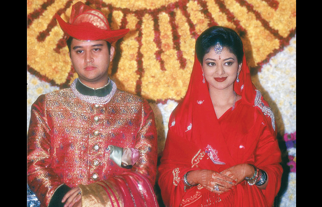 Jyotiraditya and Priyadarshini beautiful wife of Indian politician