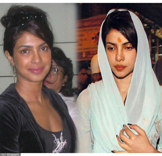 Priyanka Chopra Miss India without makeup photos