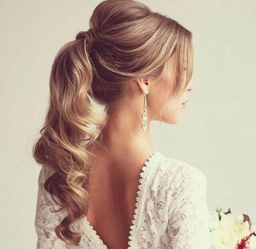 Elegant Curly Ponytail - ladies hairstyle 2019