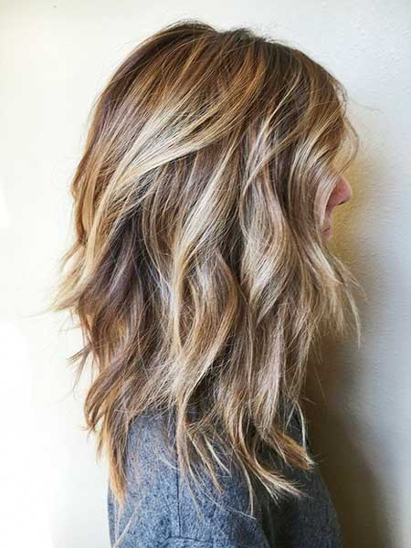 balayage shoulder length hair - ladies hairstyle 2019