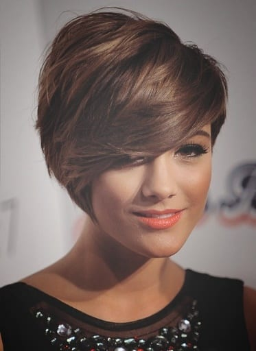 ladies hairstyle 2019 short shaved haircut with sweeping fringe