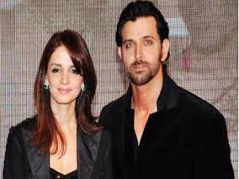 Hrithik  Roshan and Sussanne Khan in Black Outfit - bollywood couples who got divorced
