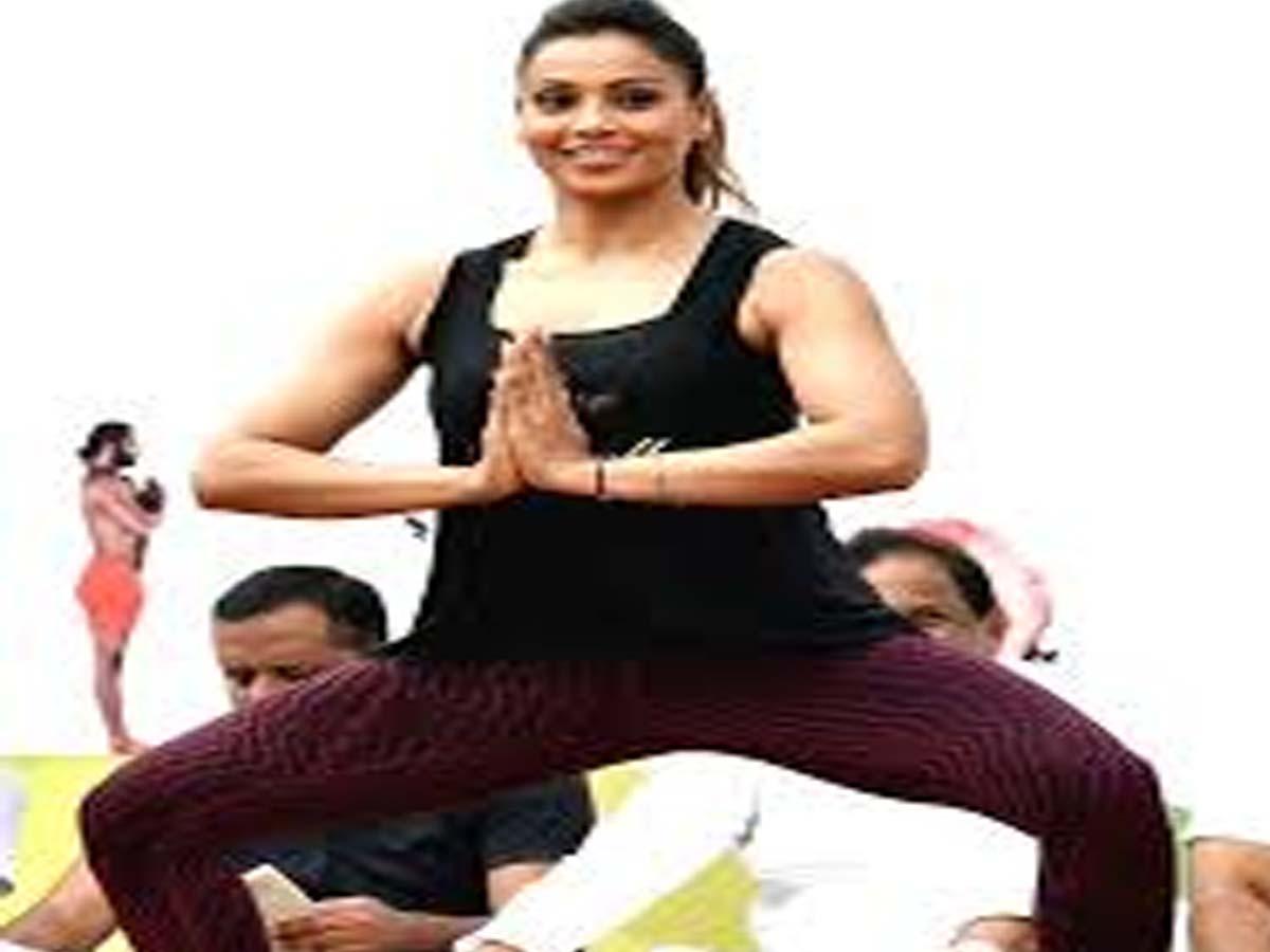 Bipasha Indian Celebrities doing Yoga