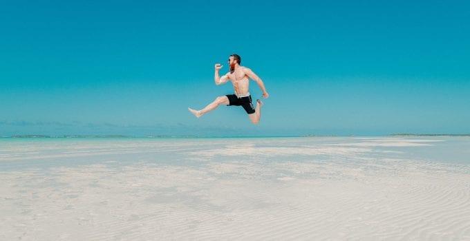 People, Man, Travel, Adventure, Happy, Jump, Ocean, Sea