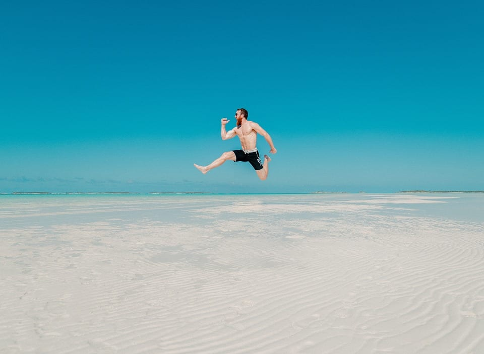 People, Man, Travel, Adventure, Happy, Jump, Ocean, Sea