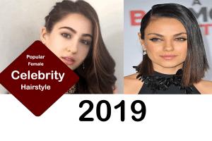 female celebrity hairstyle