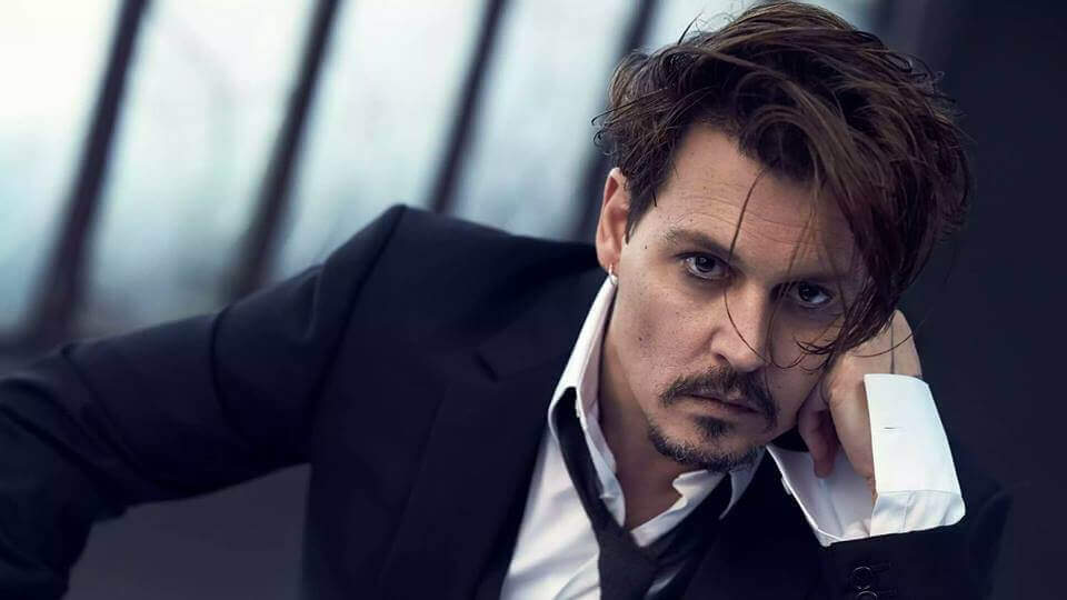 Image result for johnny depp hairstyle in 2019