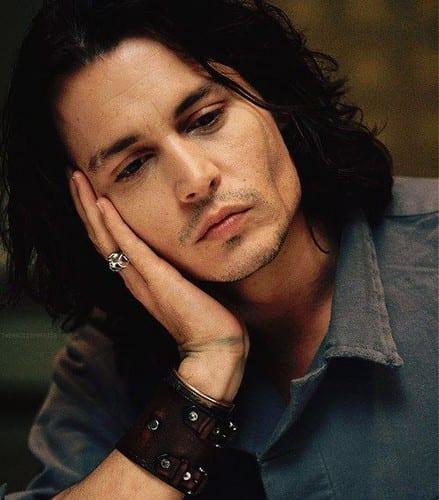 Johnny Depp Wavy Hairstyle