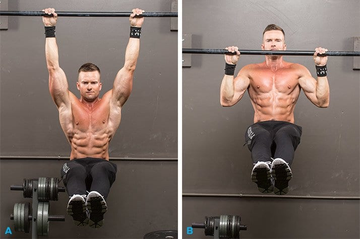 back pull up and bend forward - Six pack abs workout