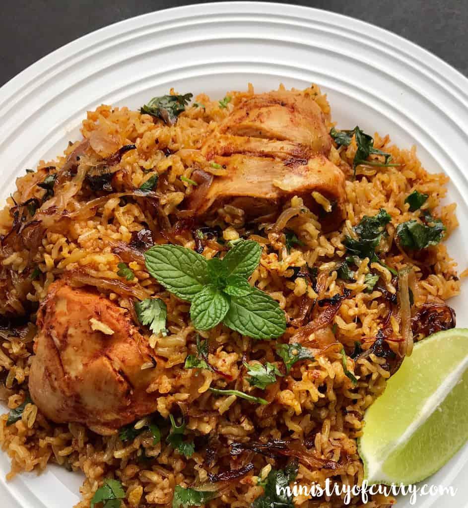 brown rice chicken biryani - Lunch Box Ideas for Bodybuilders