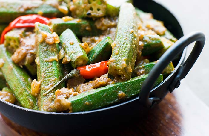 Masala Bhindi - Dinner for Bodybuilding