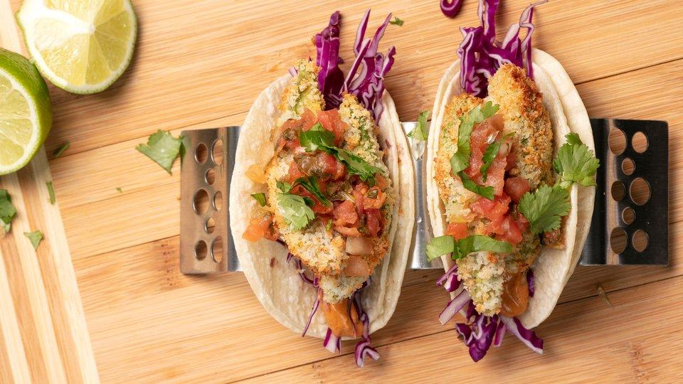 Fried Avocado Tacos - Lunch Box Ideas for Bodybuilders