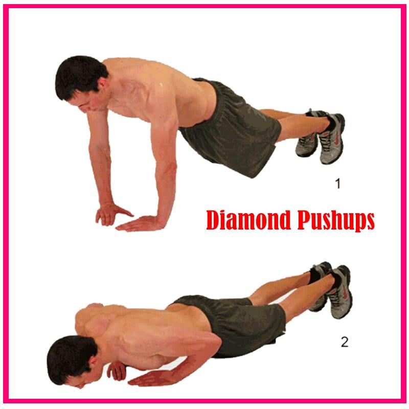 diamond pushups - full body workout