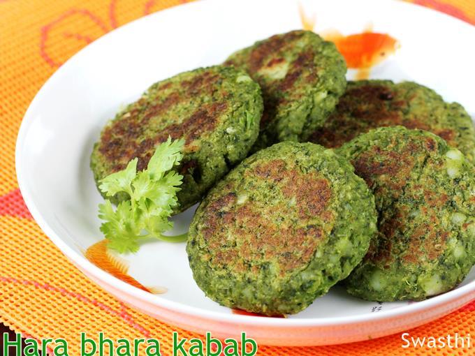 Hara bhara kabab - healthy bodybuilding snacks