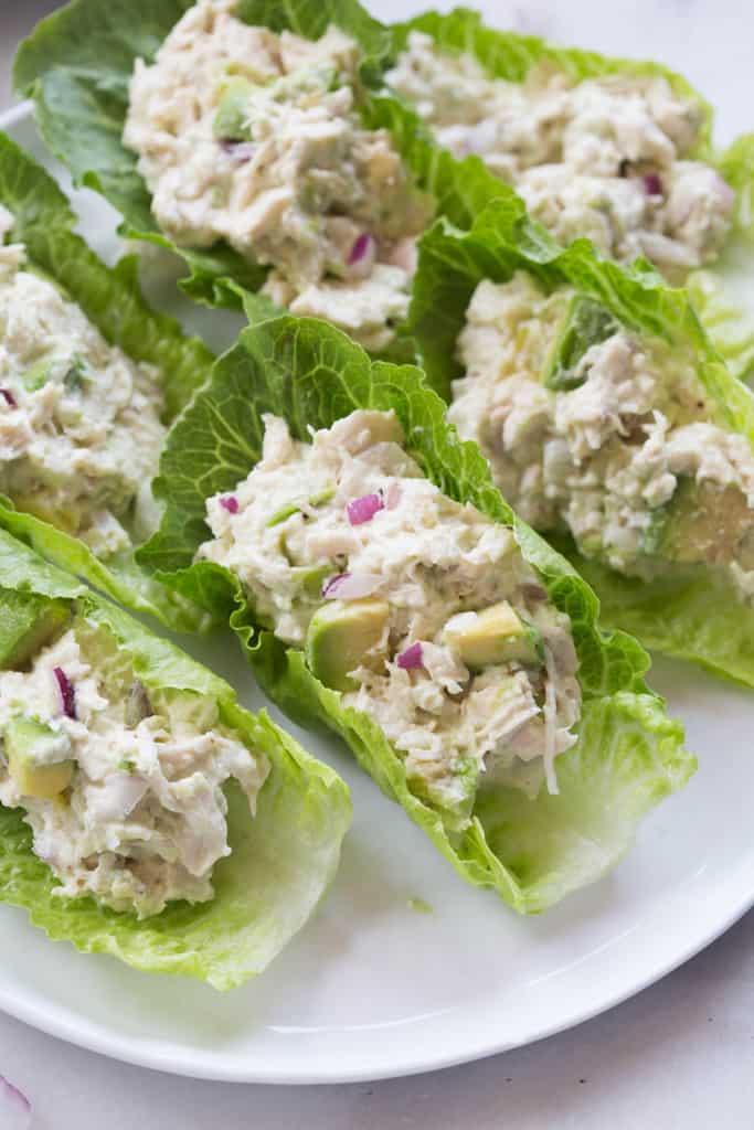 Avocado Chicken salad wrap - Lunch Box Ideas for Bodybuilders