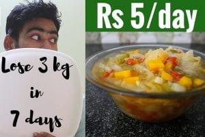 lose 3 kg 7 days