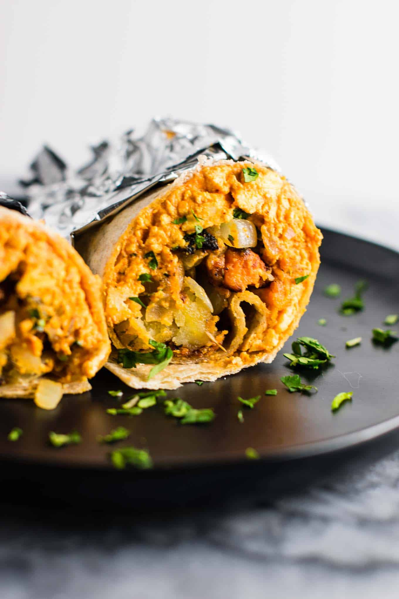vegan burrito - vegetarian breakfast ideas for bodybuilding