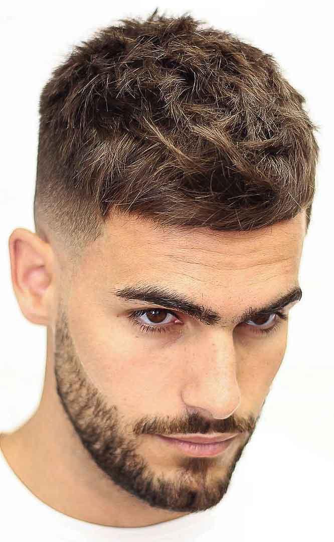 french crop haircut - connected beard haircut - Men Hairstyles 2019