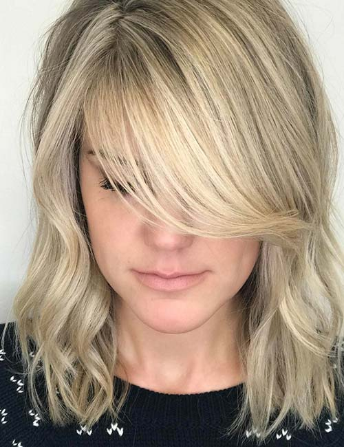 Image result for side swept bangs