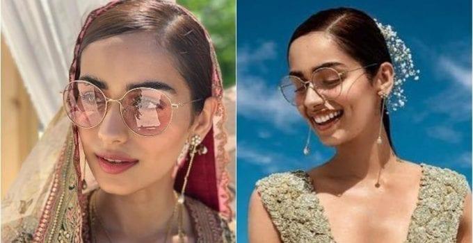 bride eye makeup - tinted sunglasses