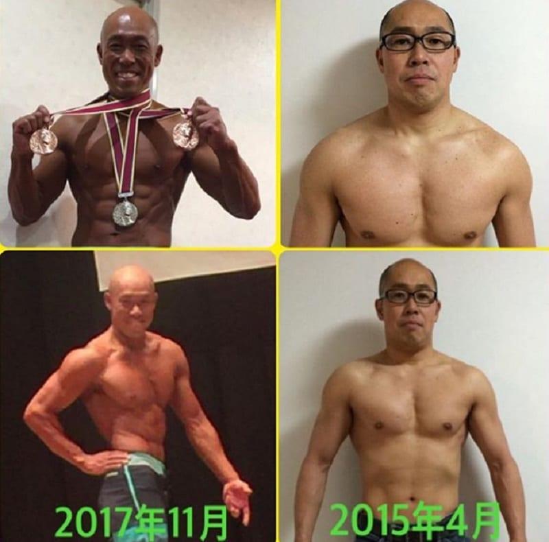 Japanese Man turn into Bodybuilder